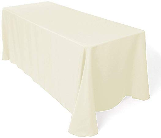 90 X 156 Ivory Rectangle Linen Rentals In Atlanta Georgia