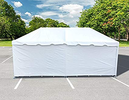 Tent Sidewall, White 8' High, 20' Long
