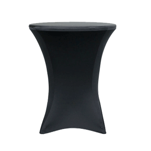"Spandex, Black, Accommodates 42"" Tall Cocktail Table"