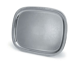 """Serving Tray, Oblong 18"""" x 14"""" Polished ss"""