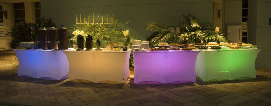 """Rectangle Table, 8' x 30"""", Lighted, Kit"""