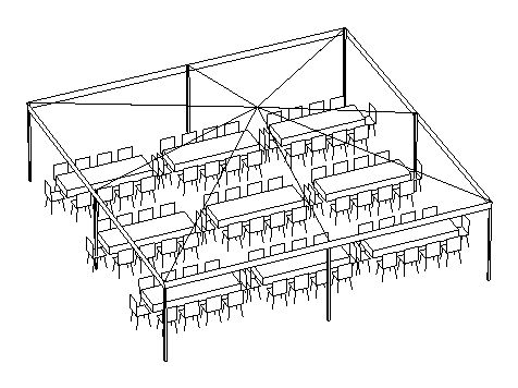 Package #5-A (30x30 Tent, up to 90 people)