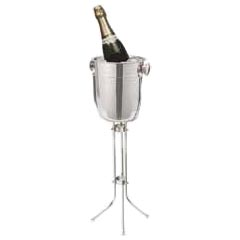 Champagne Bucket, w/ Stand, Polished ss